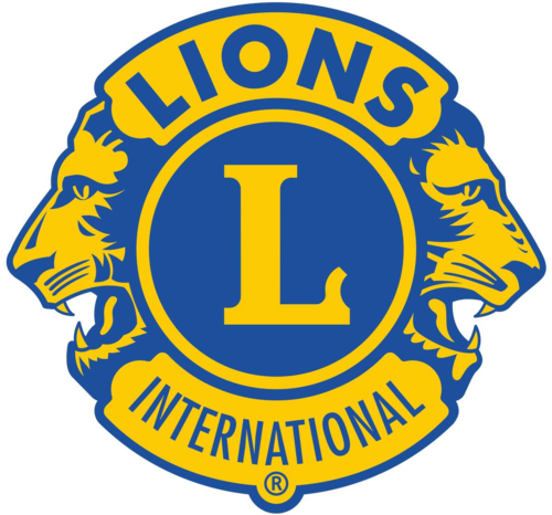 Lions Club International logo with a capital L and two lion heads